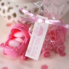 contenant plastique baptême rose poussette