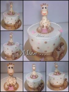 miam design cake baby shower sophie la girafe