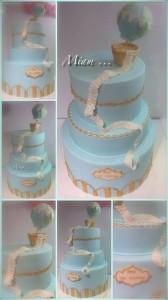 Design Cake de Baptême de Miam Meret