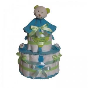 Exemple de gâteau de couches pour l'arrivée d'un petit garçon