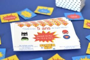Invitations super héros  les invitations
