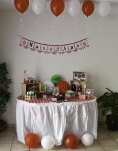 Sweet table anniversaire thème ferme