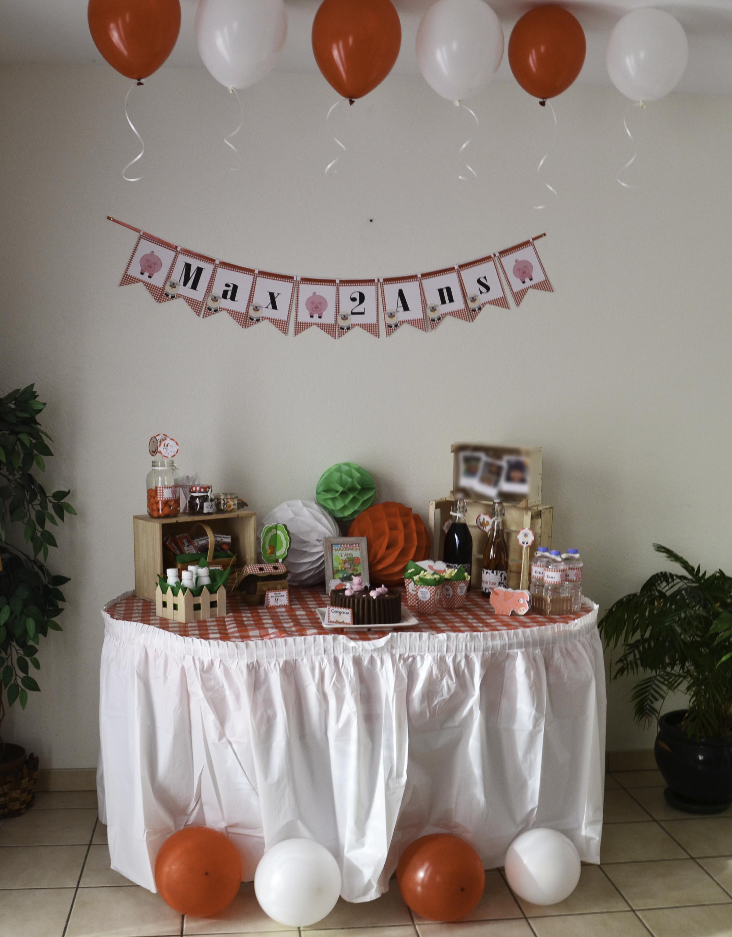 un anniversaire th me ferme organisation baby shower. Black Bedroom Furniture Sets. Home Design Ideas