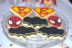 Anniversaire super-héros goûter, sablés