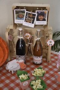 décoration de table récup thème ferme