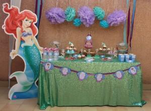 Sweet table Ariel la petite sirène