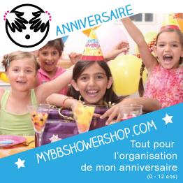 Boutique en Ligne Décorations de Fête  avec mybbshowershop.com