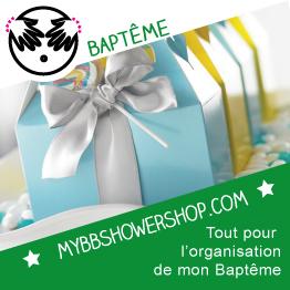 Organisation de baptême avec mybbshowershop.com