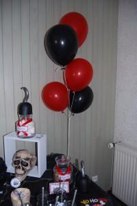 ballons hélium anniversaire pirates