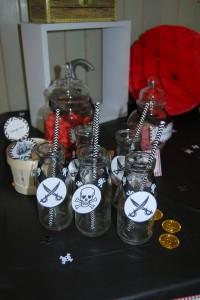 bouteilles de lait anniversaire pirates