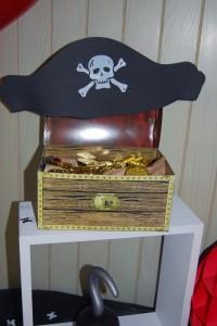 coffre et chapeau de pirates