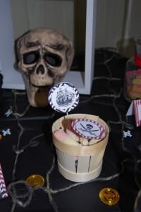 piques cupcakes anniversaire pirates