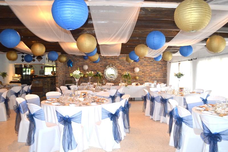 Bapt me princier bleu et or organisation baby shower anniversaire enfants et bapt me - Deco de table bleu ...