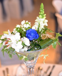 centre de table vase fleurs