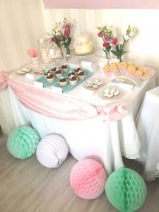 boules alvéolées décoration de salle anniversaire