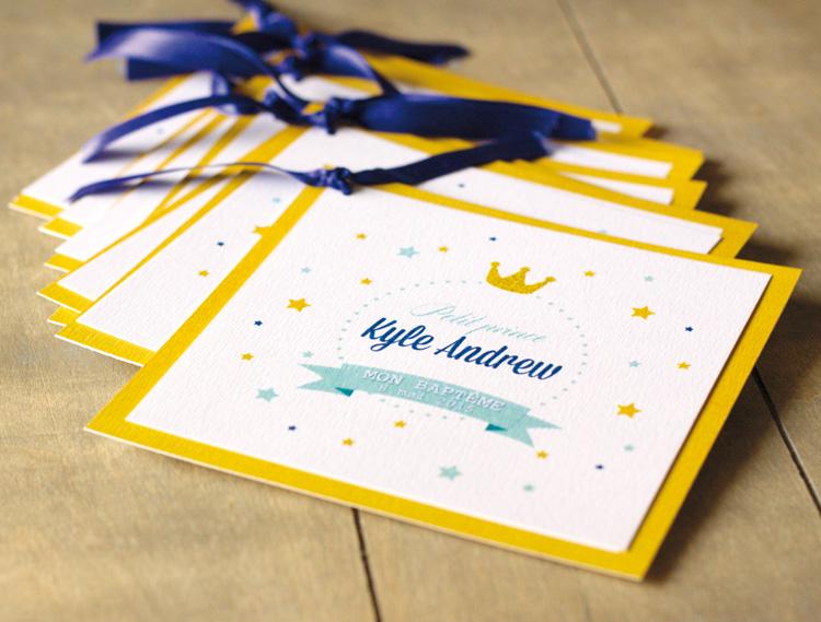 Bapt me princier bleu et or organisation baby shower for Decoration bapteme bleu
