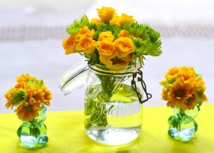 fleurs pots eau