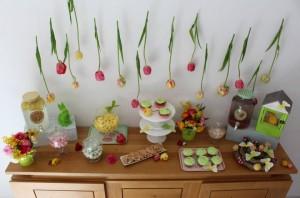tulipes suspendues