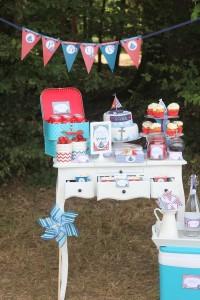 sweet table anniversaire petit bateau