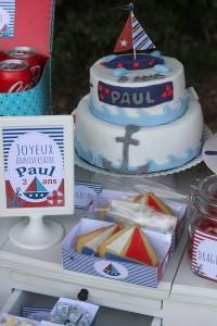 design cake anniversaire petit bateau