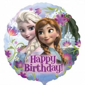 ballon rond hélium thème anniversaire Reine des neiges