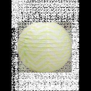 Décoration thème chevrons boules chevrons jaune