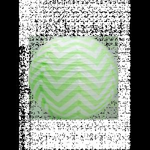 décoration thème chevrons boule papier chevrons vert