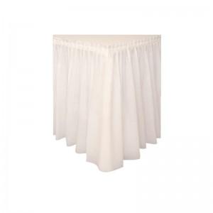 jupe de table plastique blanche