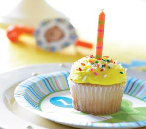premier anniversaire thème jungle cup cake bougie