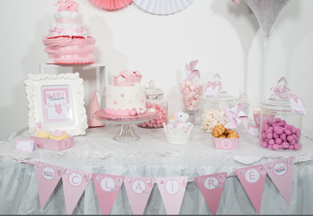 deco baby shower fille