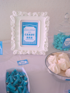 candy bar bleu kit printable mybbshowershop bar à bonbons