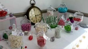 Candy bar  ou bar à bonbons alice aux pays des merveilles