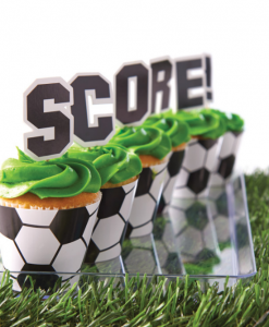 anniversaire thème football cup cakes