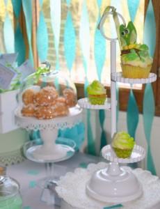 Baby shower vert hibou anniversaire theme hibou