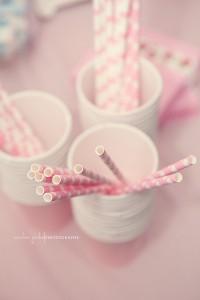 des pailles pour mon anniversaire  rose
