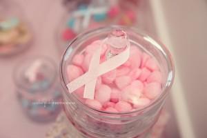 Bonbonnières en plastique candy bar rose