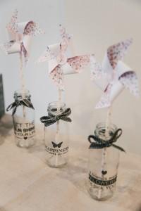 Inspiration baby shower Bordeaux Enjoy Evènements bouteilles de lait éventails