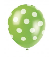 Anniversaire football ballon latex vert à pois blanc