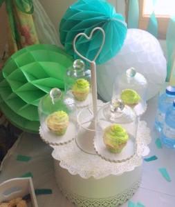 baby shower vert hibou boules alvéolées