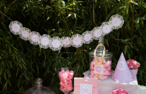 napperon banderole candy bar thème princesse mybbshowershop