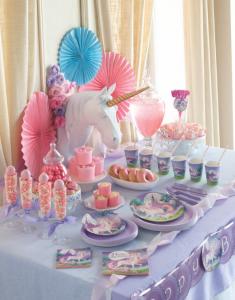 Anniversaire licorne  sweet table