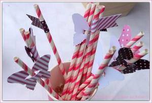 des pailles pour mon anniversaire décoration papillon