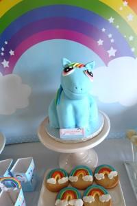 Sweet table avec gâteau 3 D My little pony mon petit poney
