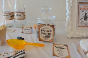 Kit Printable Halloween étiquettes de bouteilles, étiquettes de table