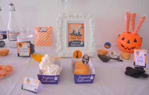 Kit Printable Halloween boite à pop corn, boite à biscuits