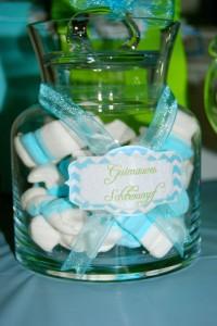 Bonbonnières en plastique candy bar bleu