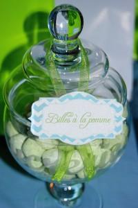Bonbonnières plastique candy bar vert