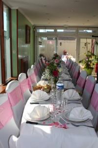 Baptême flamingo décoration de table