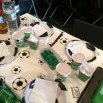 Anniversaire football nappe, vaisselle jetable, déco foot