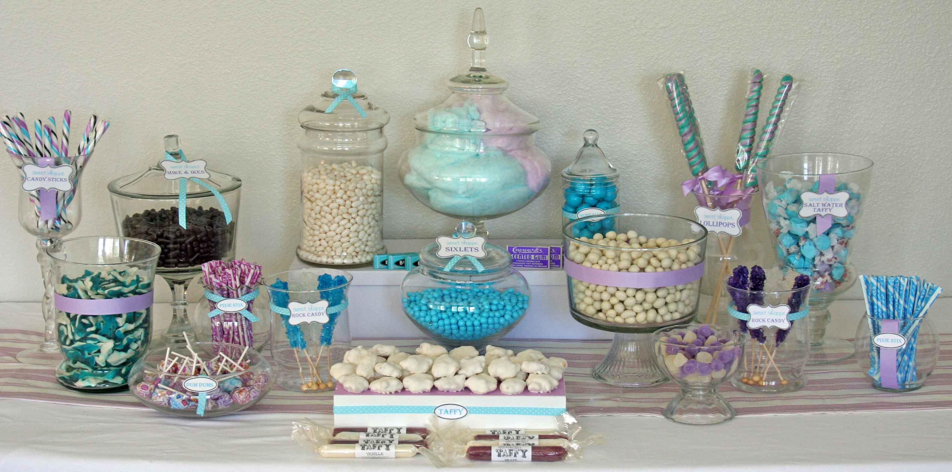 bonbonni res en plastique pour un candy bar r ussi organisation baby shower anniversaire. Black Bedroom Furniture Sets. Home Design Ideas